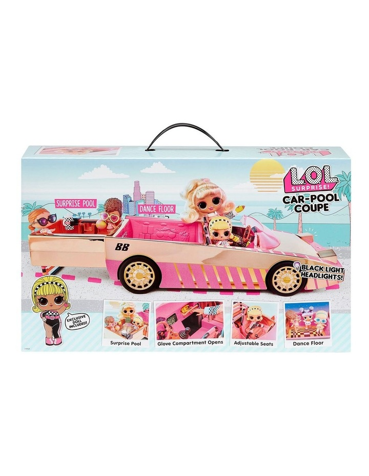 L.O.L. Surprise! Car-Pool Coupe with Exclusive Doll, Surprise Pool & Dance Floor image 5