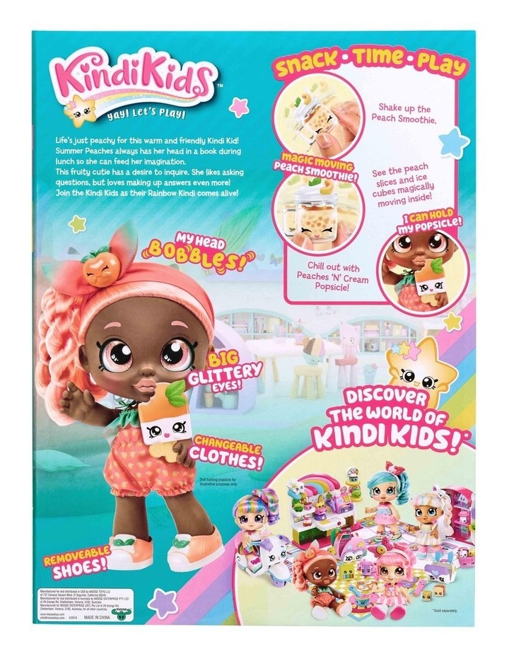 Kindi Kids Snack Time Friends Summer Peaches image 3
