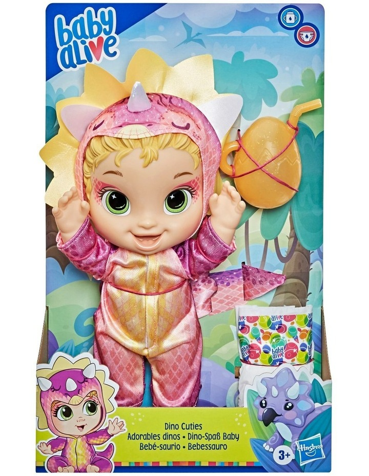 Dino Cuties Doll, Triceratops, Blonde Hair image 2