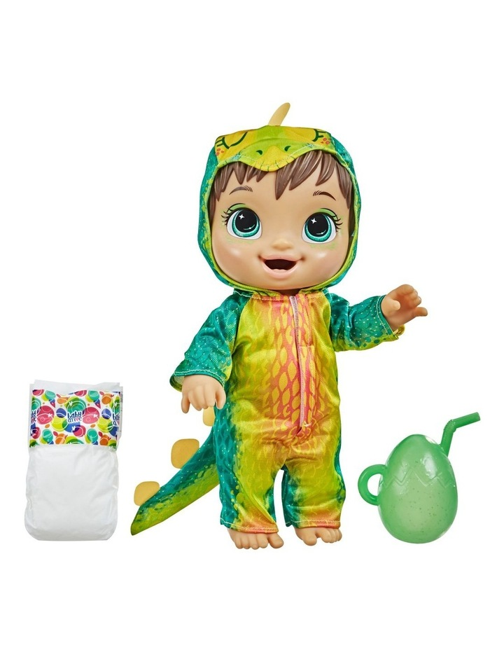 Baby Alive Dino Cuties Doll, Stegosaurus, Brown Hair image 2