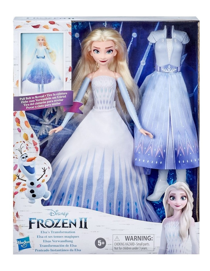Elsa's Transformation Fashion Doll With 2 Outfits & 2 Hair Styles image 2