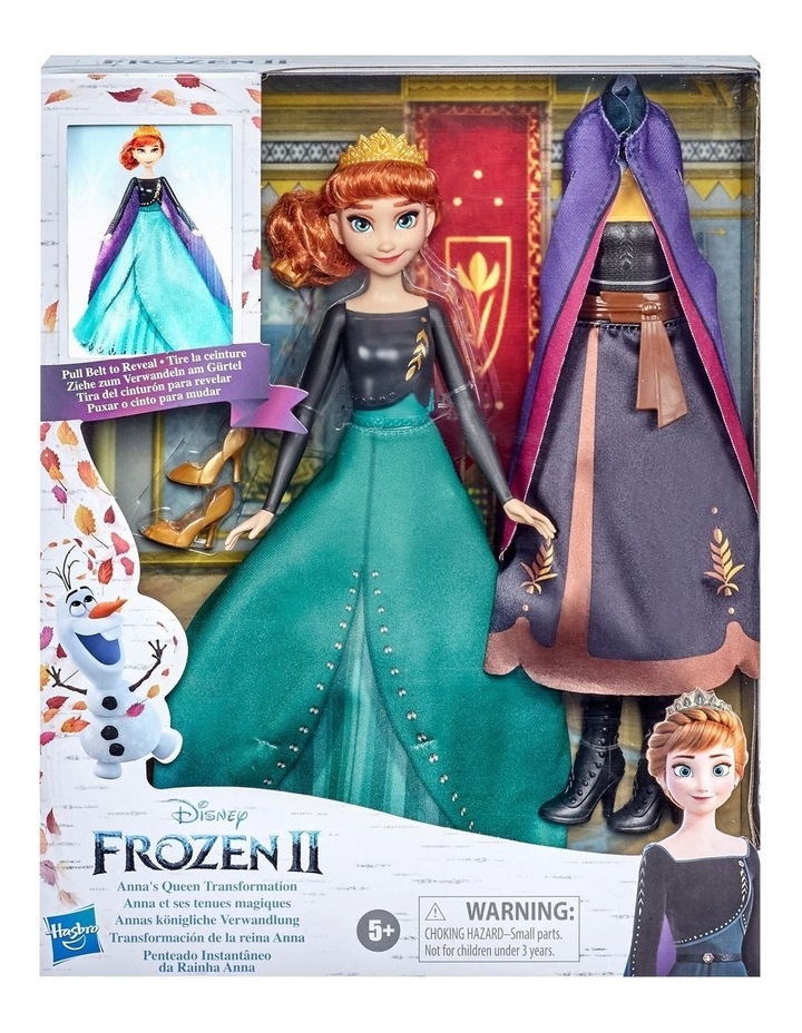 Anna's Queen Transformation Fashion Doll With 2 Outfits & 2 Hair Styles image 2