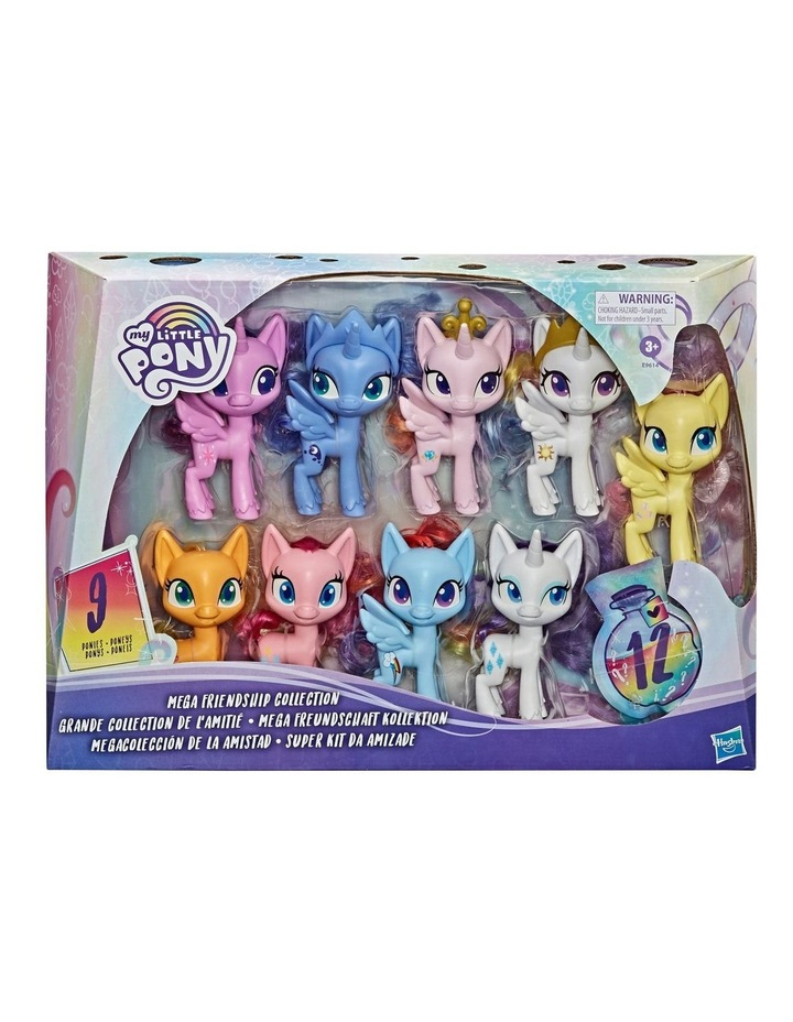 """Mega Friendship Collection 5"""" Toy Pony Set of 9 - Brushable Hair, Comb & 15 Accessories image 2"""