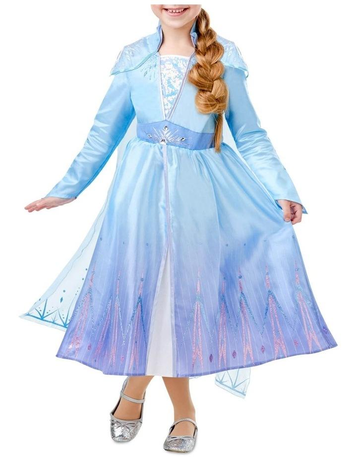 Elsa Frozen 2 Deluxe Costume Size 3-5 image 1