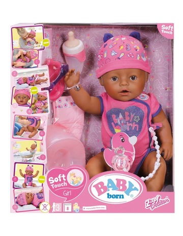 2baed21750 Baby BornBaby Born Soft Touch Doll Brown Eyes. Baby Born Baby Born Soft Touch  Doll Brown Eyes