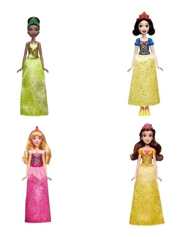 Royal Shimmer Dolls - Belle/Aurora/Snow White/Tiana Assortment image 1