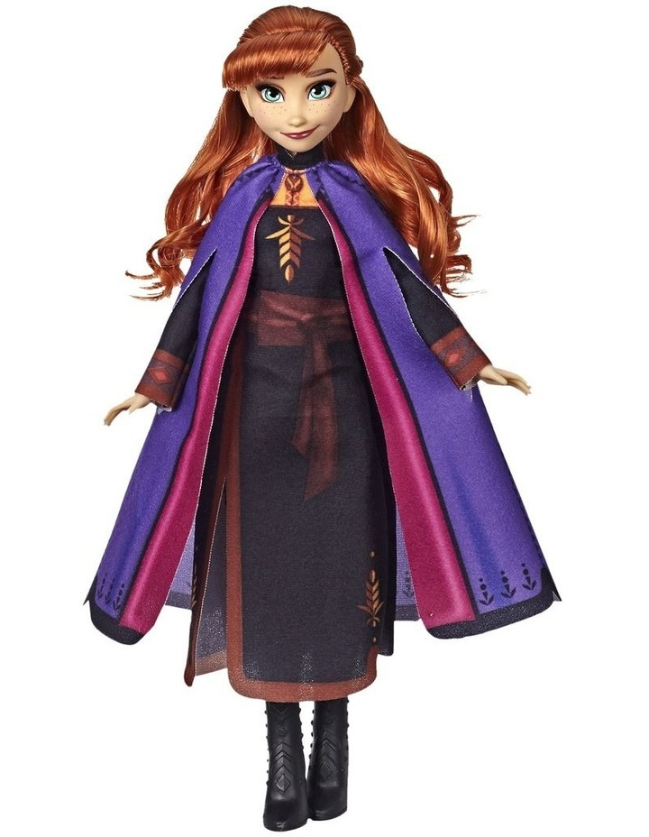 Frozen 2 Anna Fashion Doll in Long Red Hair & Movie Inspired Outfit image 2
