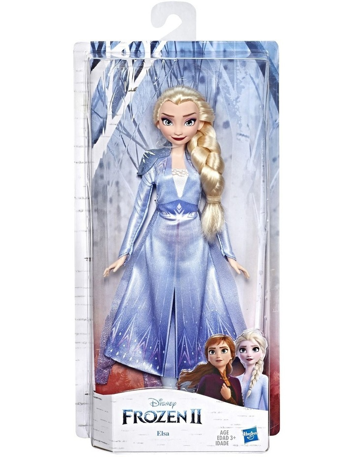 Frozen 2 Elsa Fashion Doll in Long Blonde Hair & Blue Movie Inspired Outfit image 1