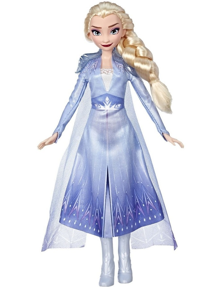 Frozen 2 Elsa Fashion Doll in Long Blonde Hair & Blue Movie Inspired Outfit image 3