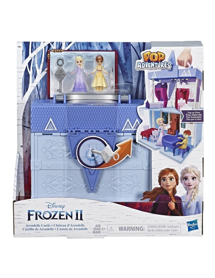 Frozen 2 Pop Adventures - Arendelle Castle Play Set with Handle inc Elsa & Anna Dolls - Pop Up Floor image 1