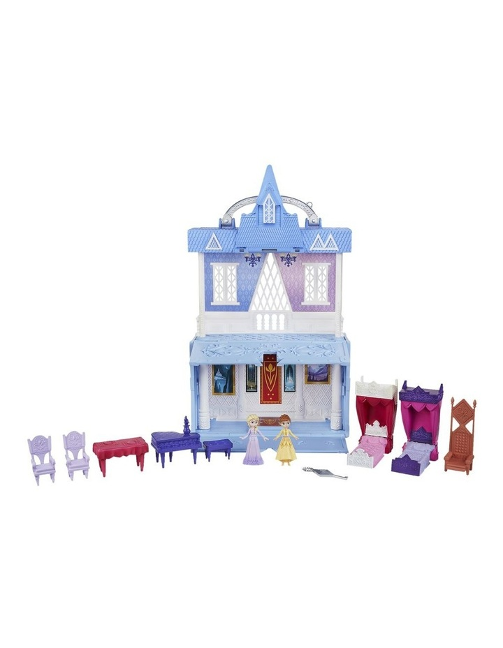 Frozen 2 Pop Adventures - Arendelle Castle Play Set with Handle inc Elsa & Anna Dolls - Pop Up Floor image 2