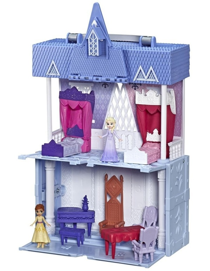 Frozen 2 Pop Adventures - Arendelle Castle Play Set with Handle inc Elsa & Anna Dolls - Pop Up Floor image 3