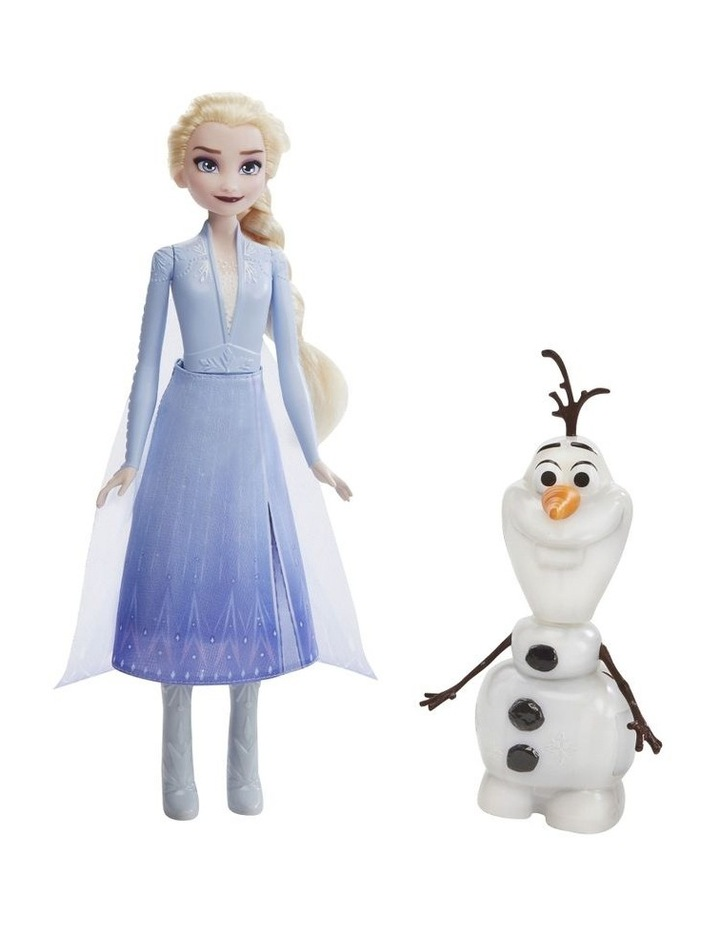 Frozen 2 - Talk & Glow Olaf with Remote Control Elsa Doll - 20  Sounds & Phrases image 2