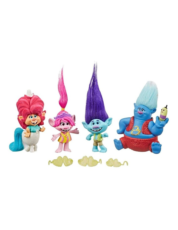 Trolls World Tour DreamWorks - Lonesome Flats Tour 5 Doll Set Pack image 2