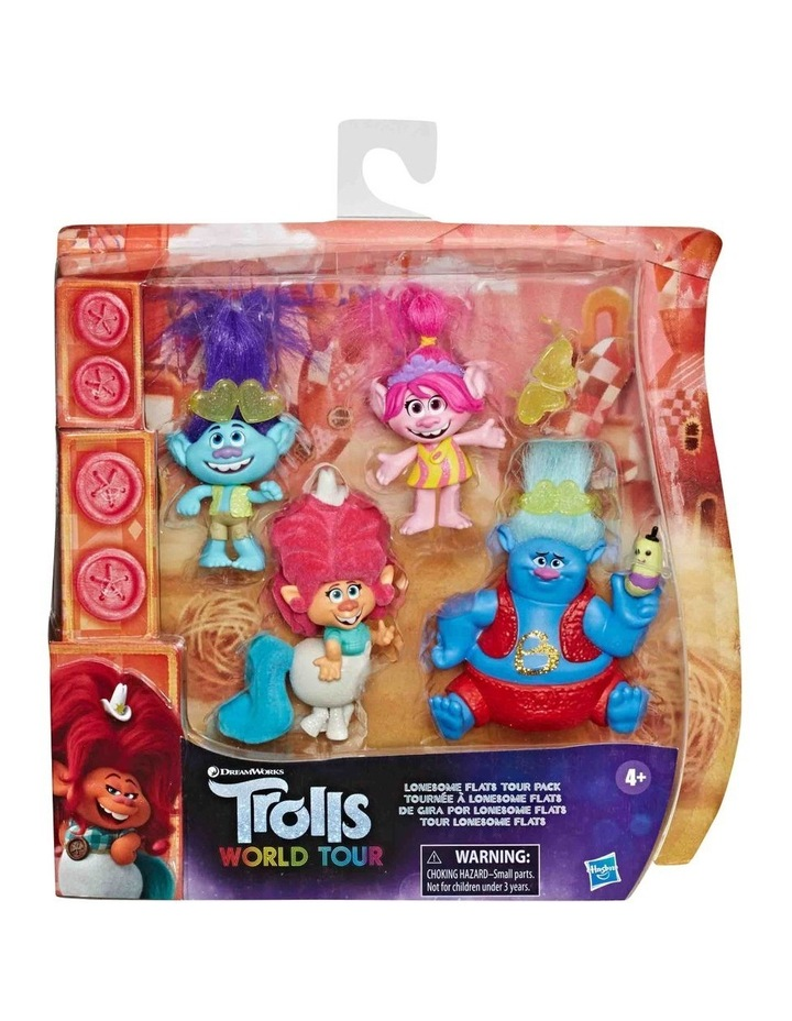 Trolls World Tour DreamWorks - Lonesome Flats Tour 5 Doll Set Pack image 3