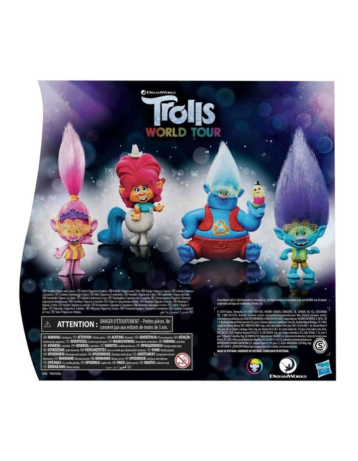 Trolls World Tour DreamWorks - Lonesome Flats Tour 5 Doll Set Pack image 4