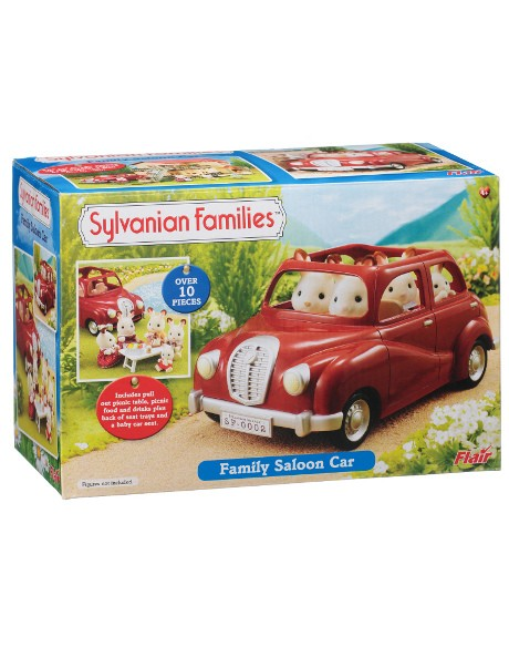 Family Red Saloon Car image 1