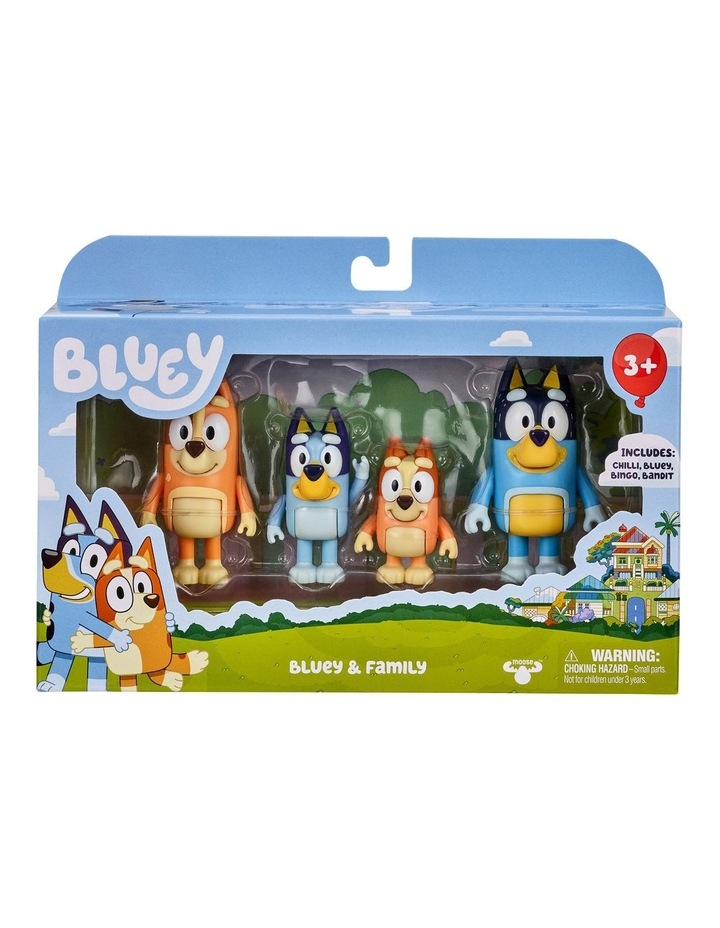 Bluey Family 4 Pack Figurines image 1