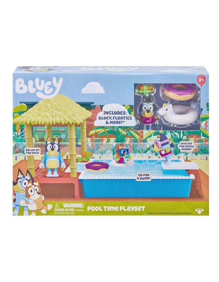 Bluey Pool Time Fun Playset image 1