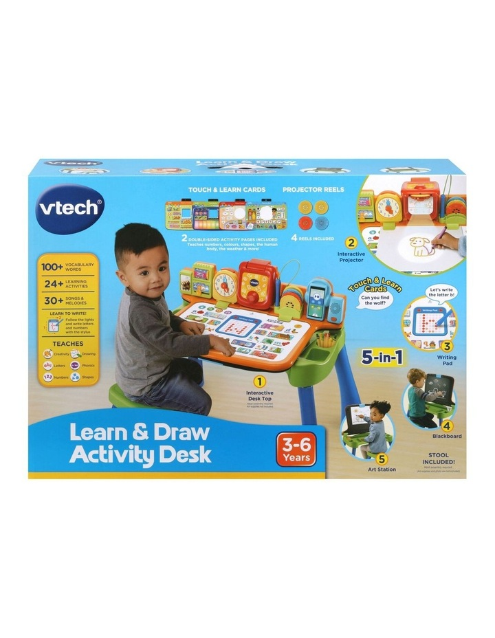 Learn & Draw Activity Desk Blue image 1