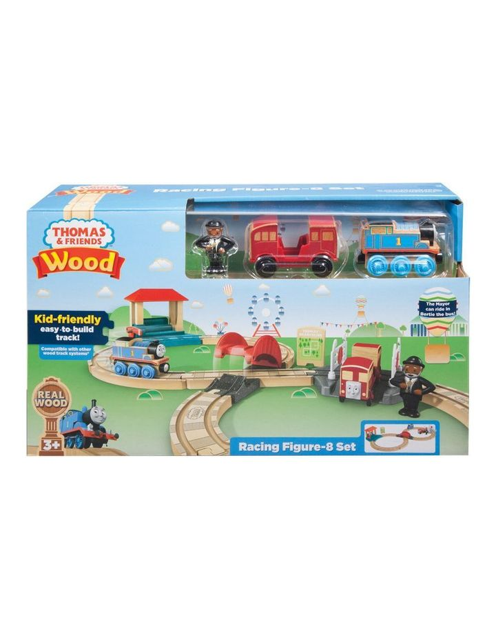 Wooden Railway Racing Figure-8 Set image 1