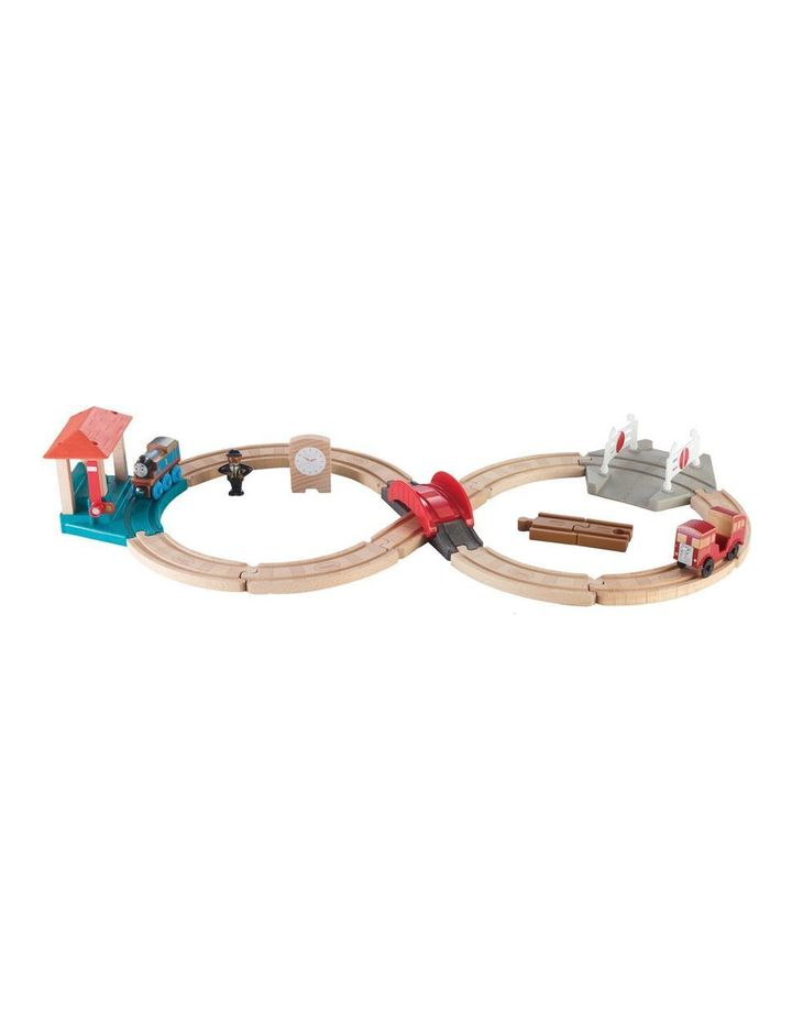 Wooden Railway Racing Figure-8 Set image 2