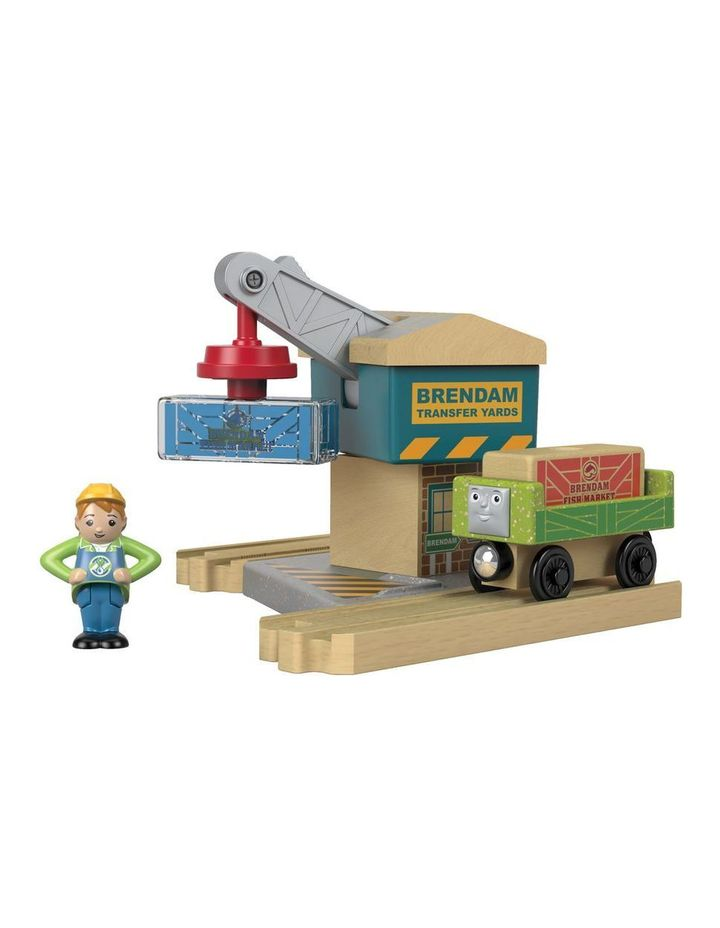 Wooden Railway Spin & Lift Crane image 2