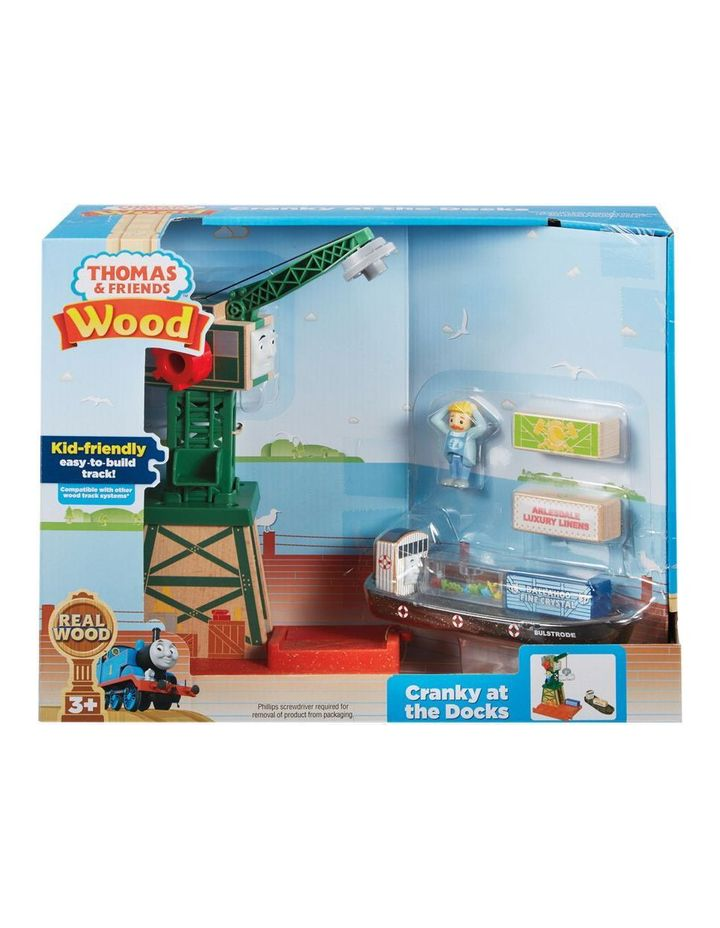 Wooden Railway Cranky At The Docks image 1