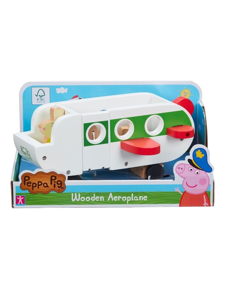 Wood Play Aeroplane & Figure image 2