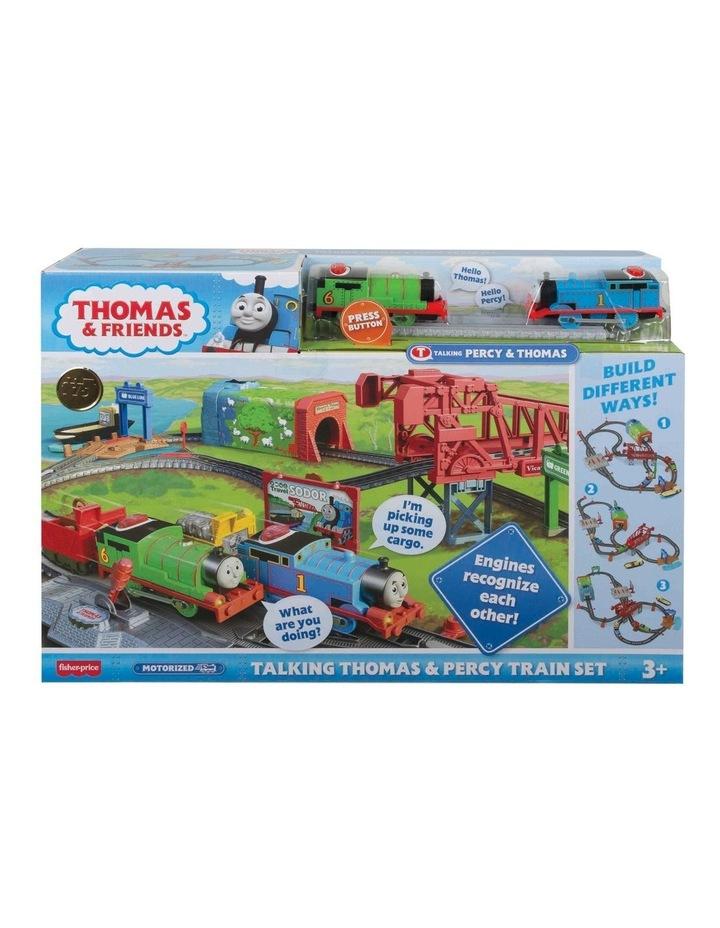 Talking Thomas & Percy Train Set image 1