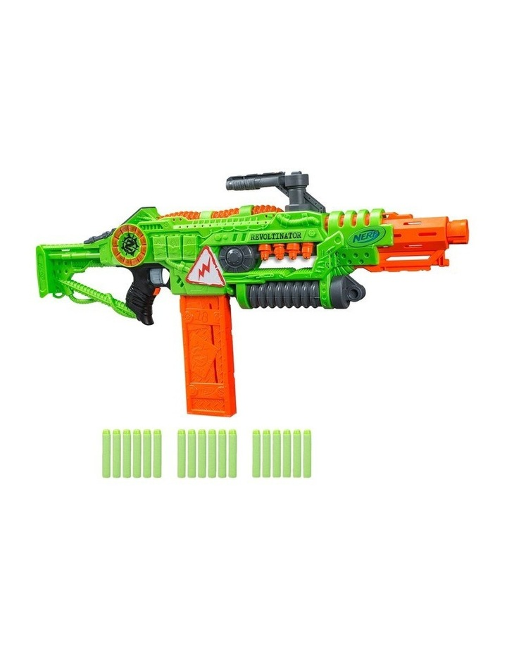 NERF Zombie Strike - Revoltinator Blaster inc 18 Official Darts - Motorised Lights & Sounds image 1