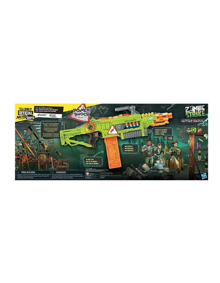 NERF Zombie Strike - Revoltinator Blaster inc 18 Official Darts - Motorised Lights & Sounds image 2