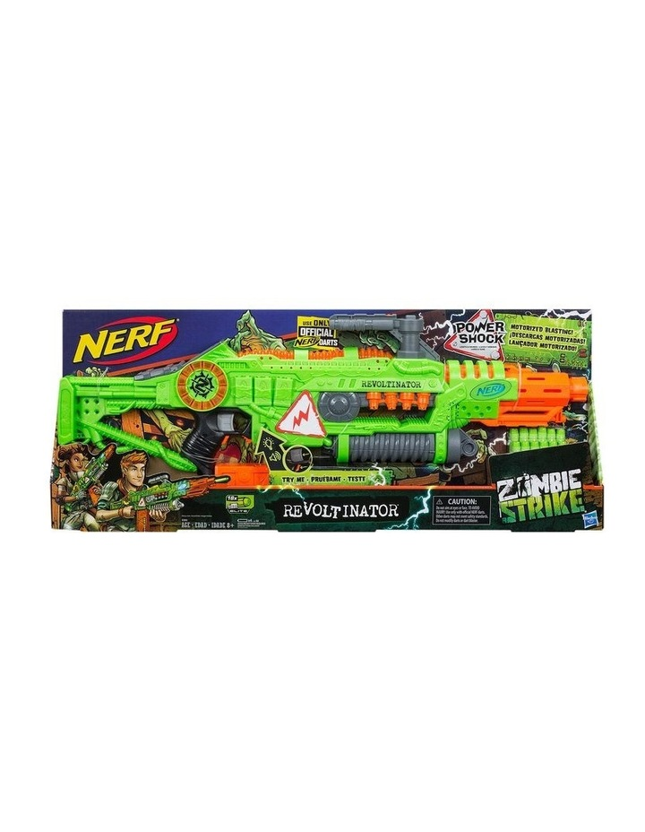 NERF Zombie Strike - Revoltinator Blaster inc 18 Official Darts - Motorised Lights & Sounds image 3