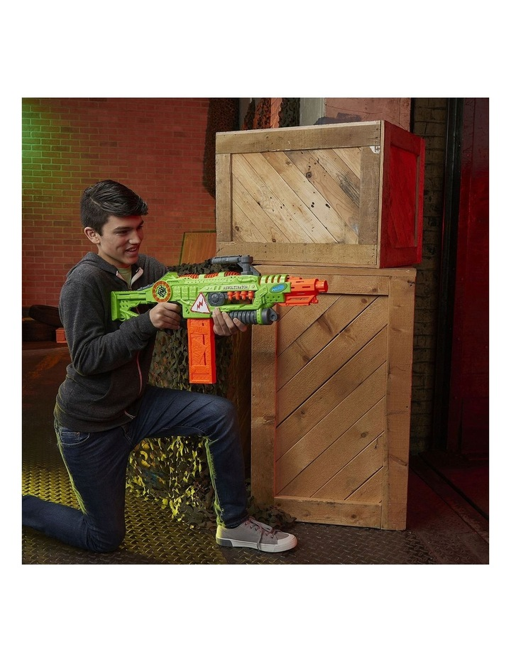 NERF Zombie Strike - Revoltinator Blaster inc 18 Official Darts - Motorised Lights & Sounds image 4