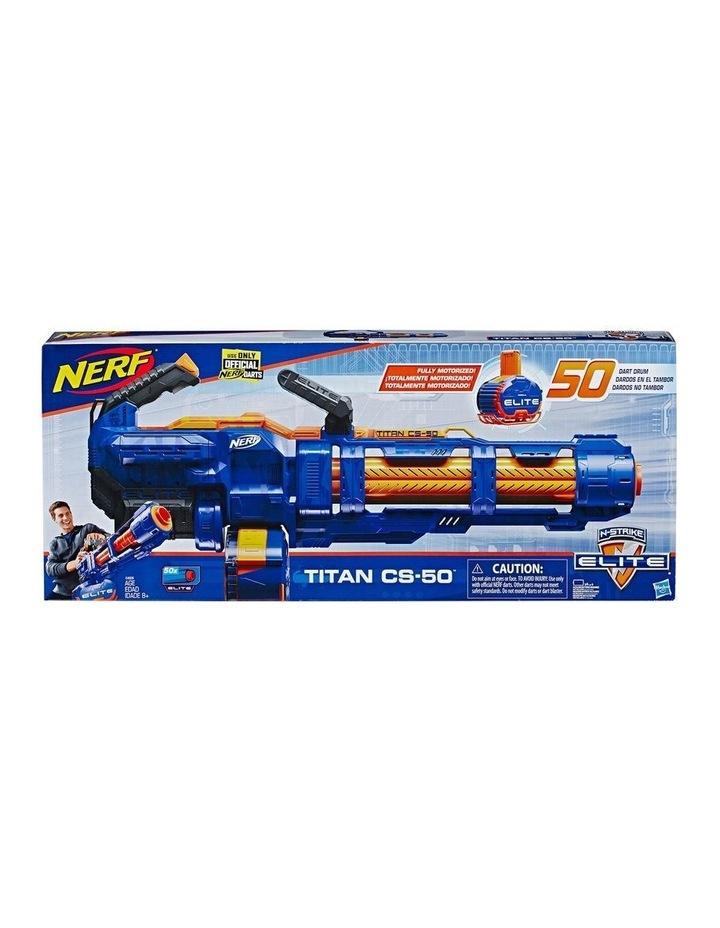 NERF Elite - Titan CS 50 Blaster inc 50 Official Darts - Fully Motorised with Spinning Barrel image 3