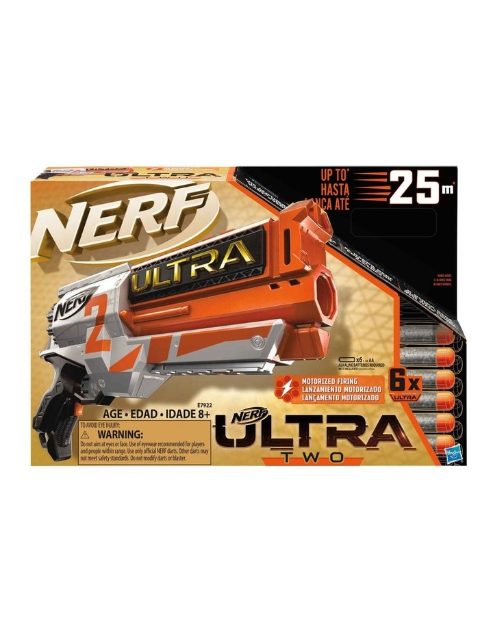Ultra Two Motorised Blaster - Fast Back Reloading - Incl 6 Nerf Ultra Darts image 2