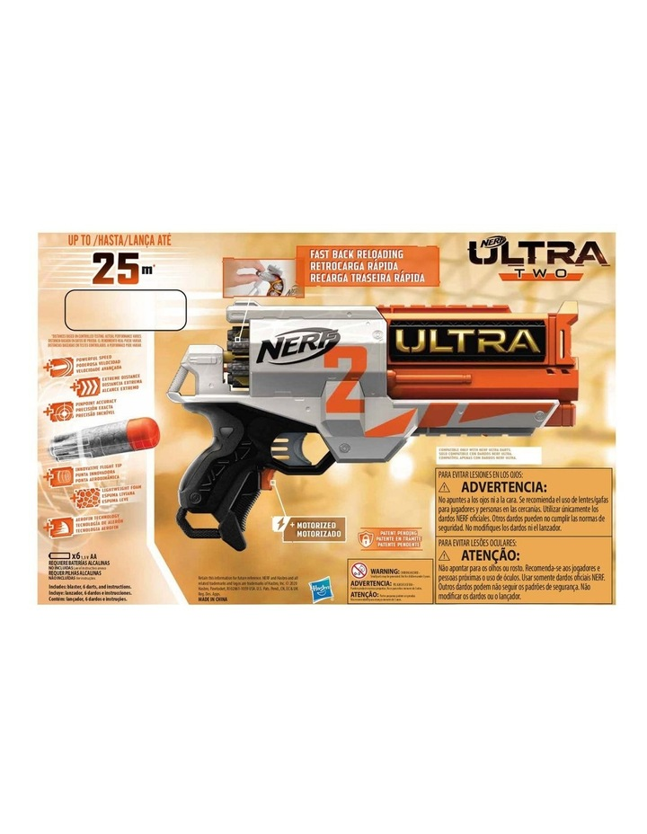 Ultra Two Motorised Blaster - Fast Back Reloading - Incl 6 Nerf Ultra Darts image 3