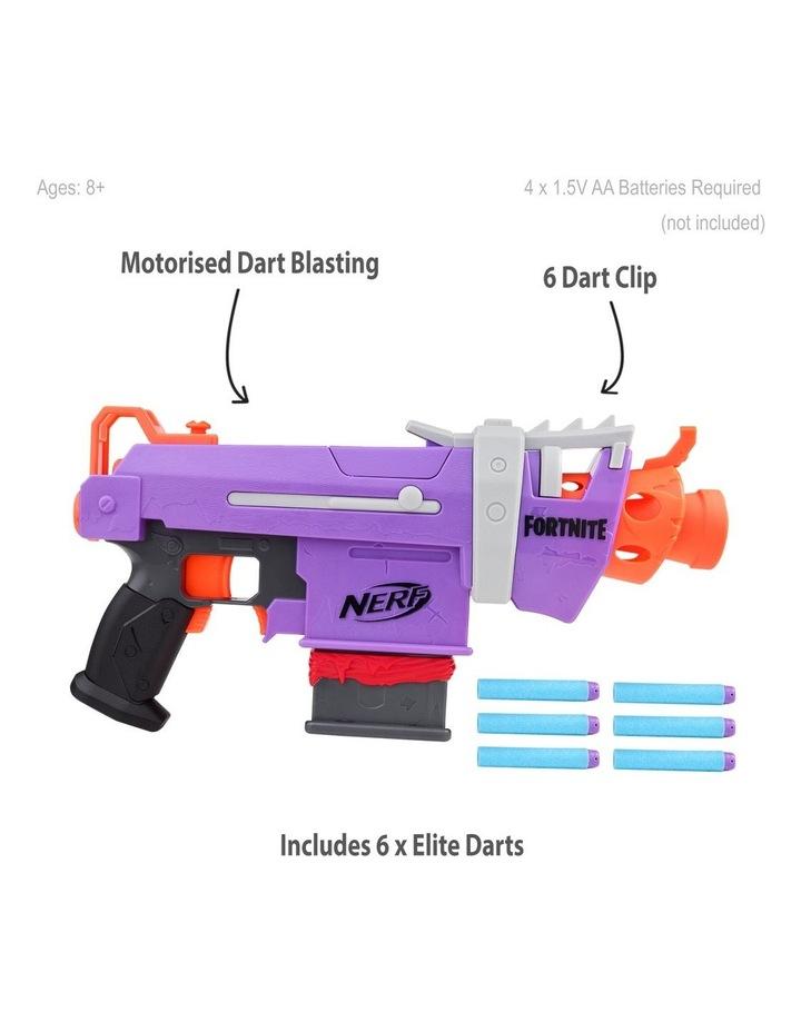 Fortnite NERF - SMG-E Blaster - Motorised Dart Blasting with 6 Dart Clip - Inc 6 Official NERF Elite Darts image 2