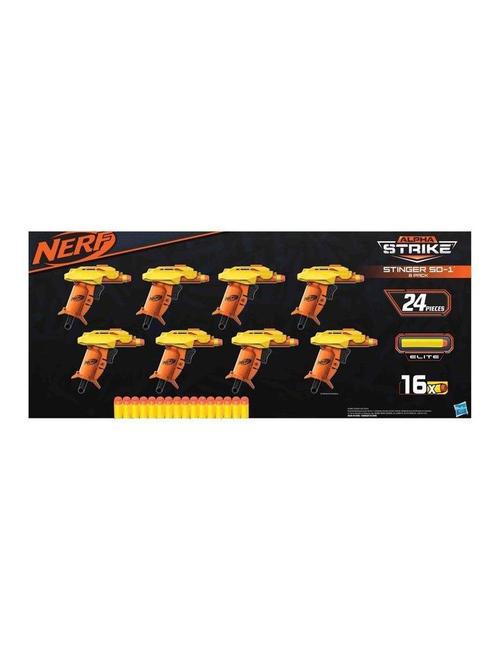 Alpha Strike - Stinger SD 1 Blasters 8 Pack - 8 Blasters & 16 Official Elite Darts (24pc) image 4