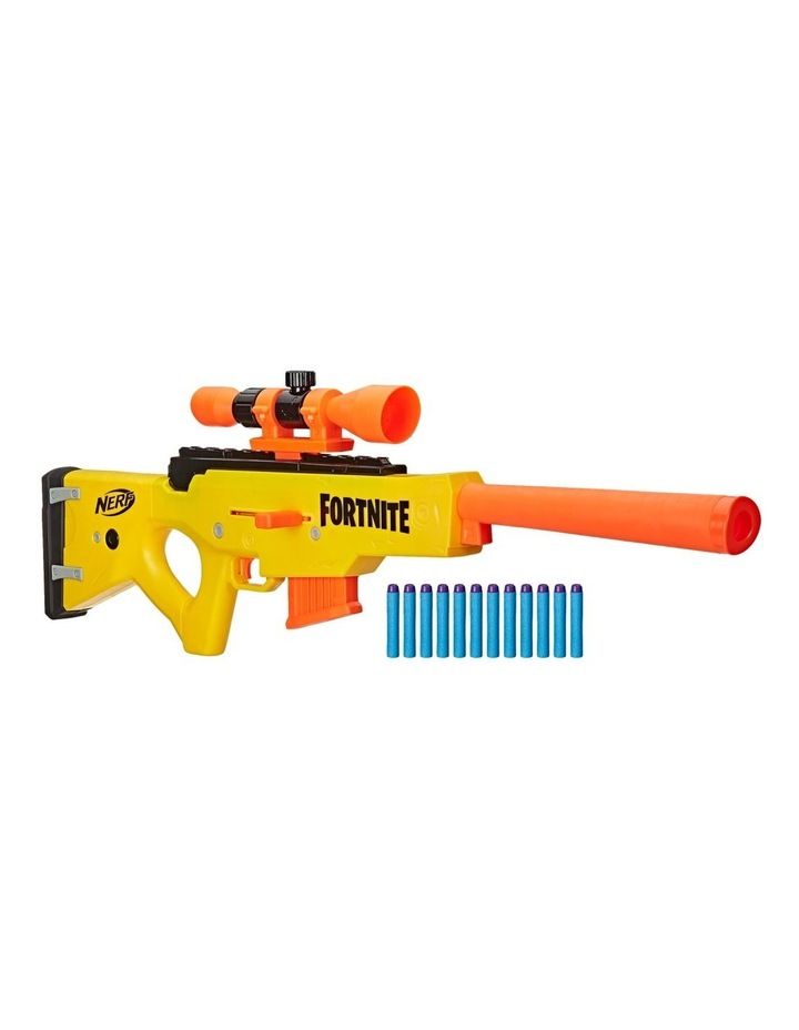 Nerf Fortnite BASR L Bolt Action Clip Fed Blaster - Inc Removable Scope, 6 Dart Clip & 12 Official Elite Darts image 1