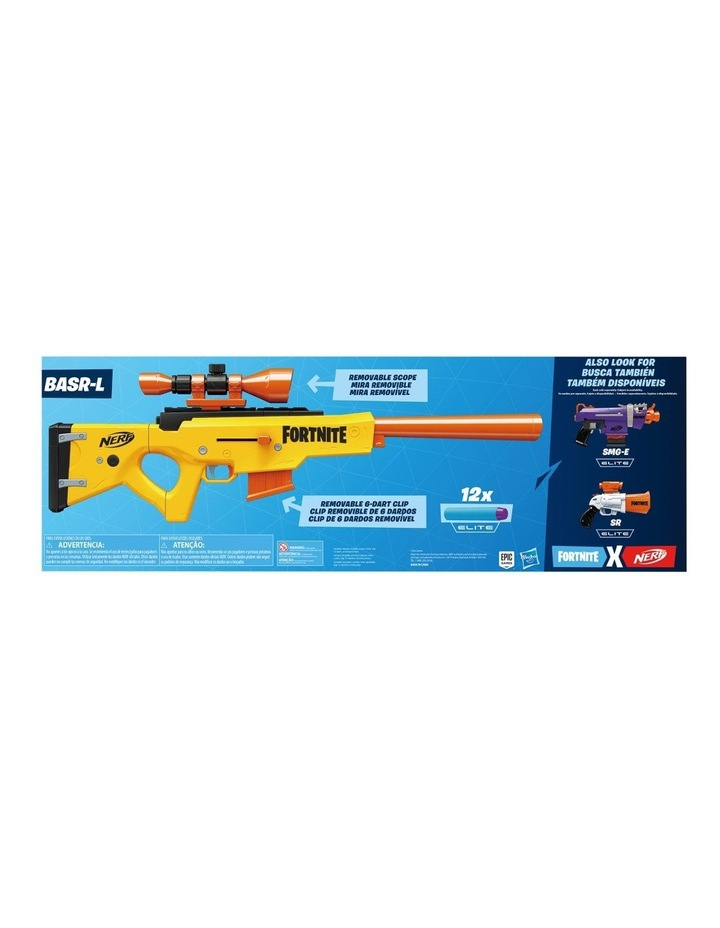 Nerf Fortnite BASR L Bolt Action Clip Fed Blaster - Inc Removable Scope, 6 Dart Clip & 12 Official Elite Darts image 3