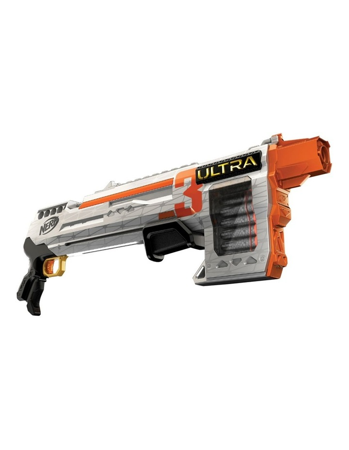 Ultra Three Blaster - Pump Action Blaster with 8 Dart Internal Clip - Incl 8 Official Nerf Ultra Darts image 1