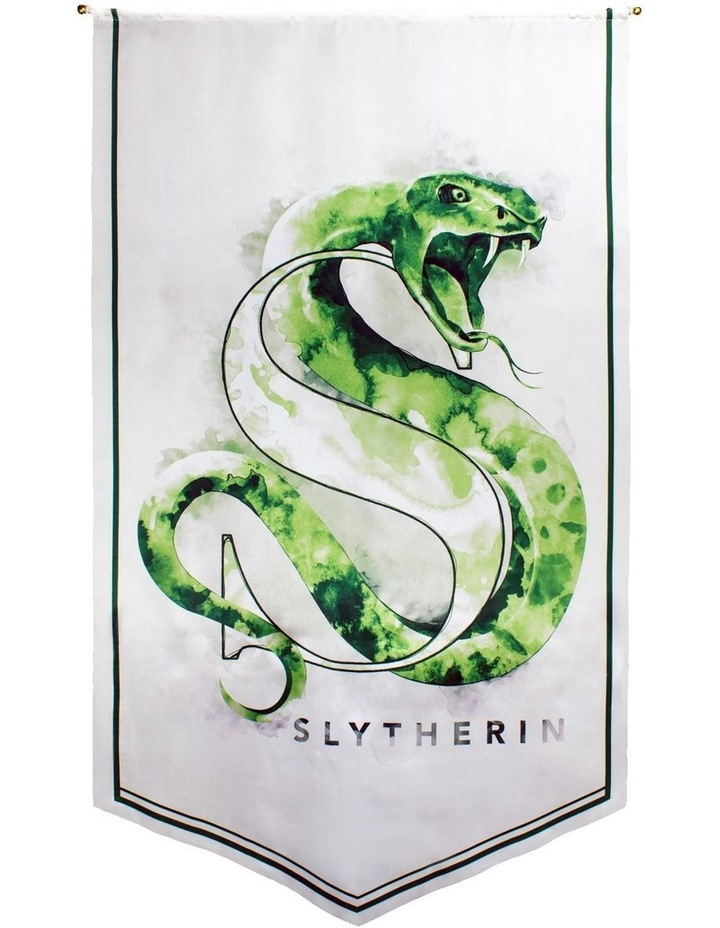 Harry Potter - Slytherin Watercolour Satin Banner image 1