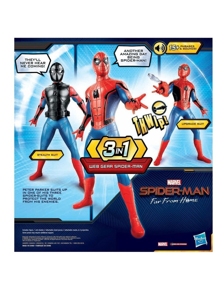 Spider-man Web Gear - 3 in 1 Action Figure - 10  Sounds - Kids Toys Ages 4  image 4