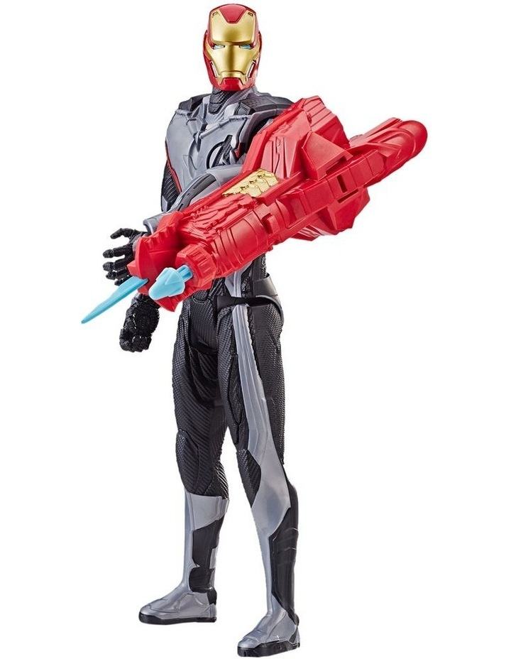 "Avengers Endgame - Iron Man 12"" Action Figure - Titan Hero Series Power FX - Sounds & Phrases image 1"
