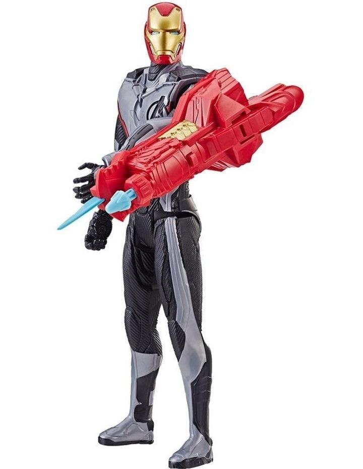 "Avengers Endgame - Iron Man 12"" Action Figure - Titan Hero Series Power FX - Sounds & Phrases image 2"