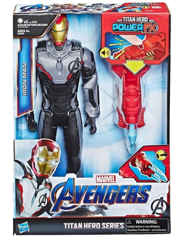 "Avengers Endgame - Iron Man 12"" Action Figure - Titan Hero Series Power FX - Sounds & Phrases image 3"