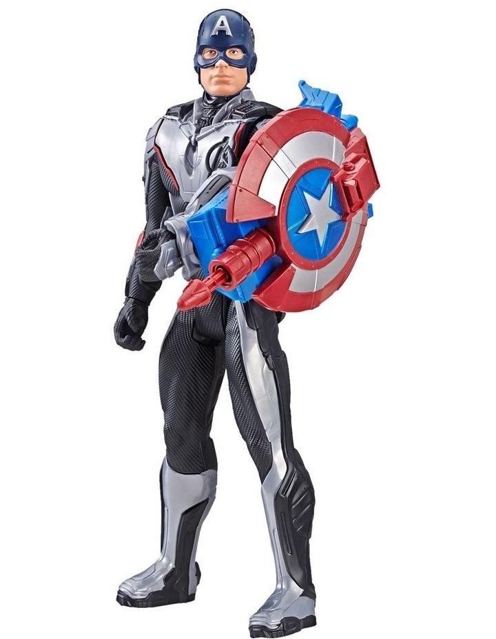 "Avengers Endgame - Captain America 12"" Action Figure - Titan Hero Series Power FX - Sounds & Phrases image 1"