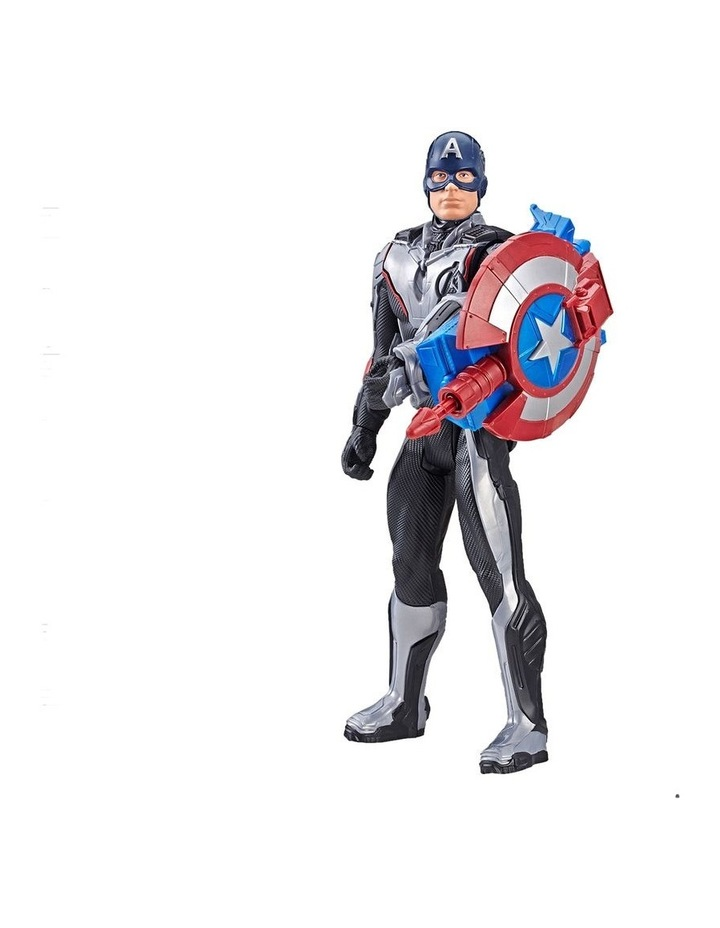 "Avengers Endgame - Captain America 12"" Action Figure - Titan Hero Series Power FX - Sounds & Phrases image 2"