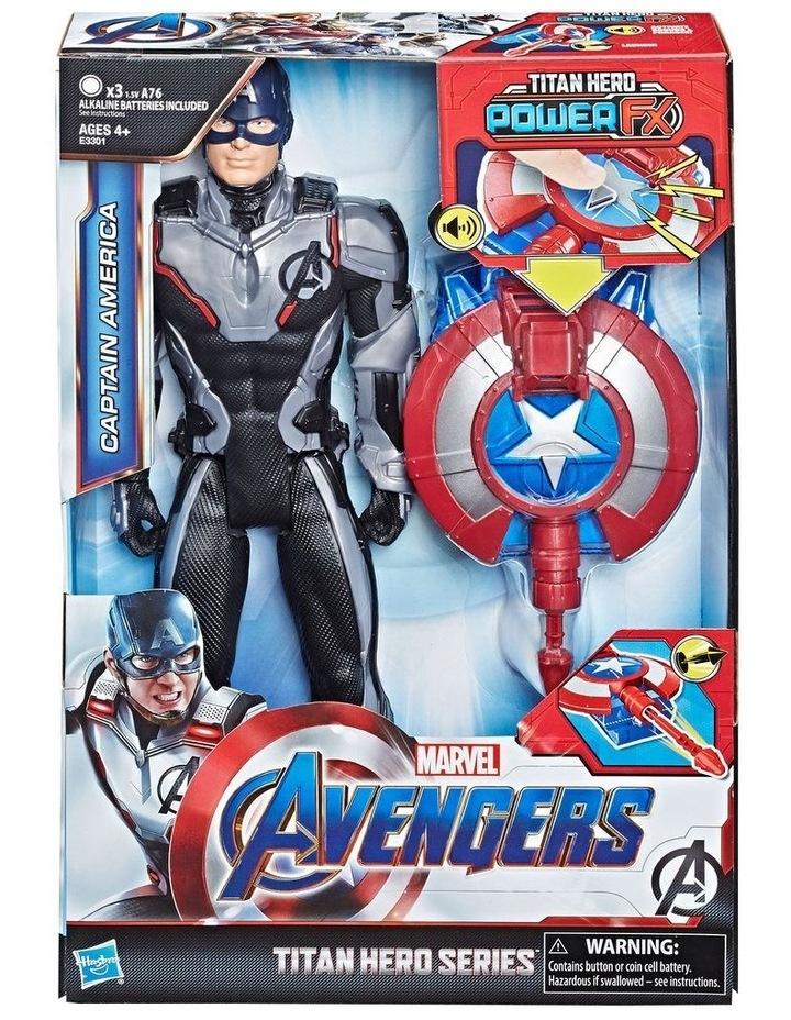 "Avengers Endgame - Captain America 12"" Action Figure - Titan Hero Series Power FX - Sounds & Phrases image 3"